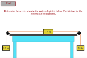 Hypermoderne Newton's Law System with 3 Masses (No Friction) DM-66